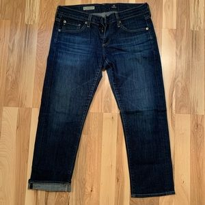AG the Tomboy Relaxed Straight Crop Jean size 28